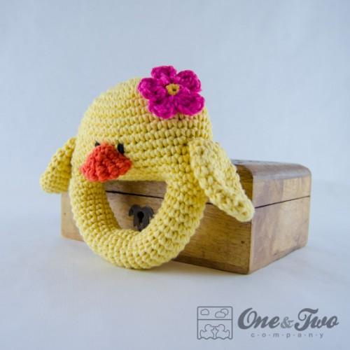 Amigurumi Rattle Pattern : Duck Rattle Crochet Pattern