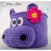 Hippo Basket - Crochet Pattern