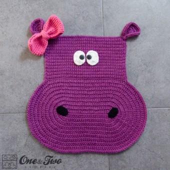 Hippo Rug Crochet Pattern