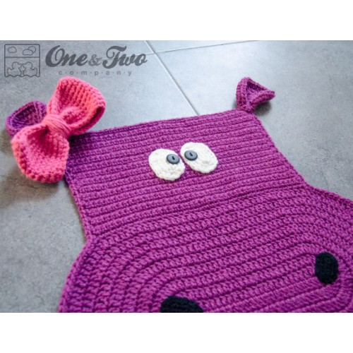 Crochet Patterns Elephant Rug : Hippo Rug Crochet Pattern
