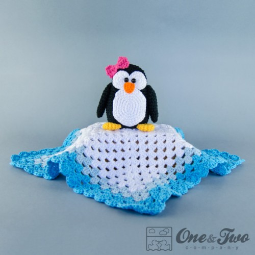 Crochet Pattern For Baby Security Blanket : Penguin Security Blanket Crochet Pattern