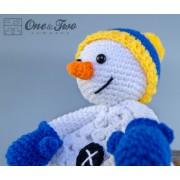 Snowman Security Blanket Crochet Pattern