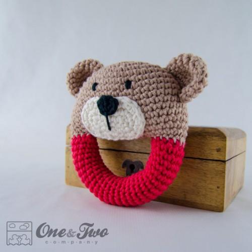 Amigurumi Rattle Pattern : Teddy Bear Rattle Crochet Pattern