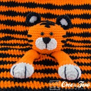 Tiger Security Blanket Crochet Pattern