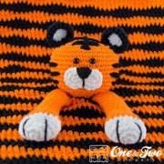 Tiger Security Blanket Crochet Pattern