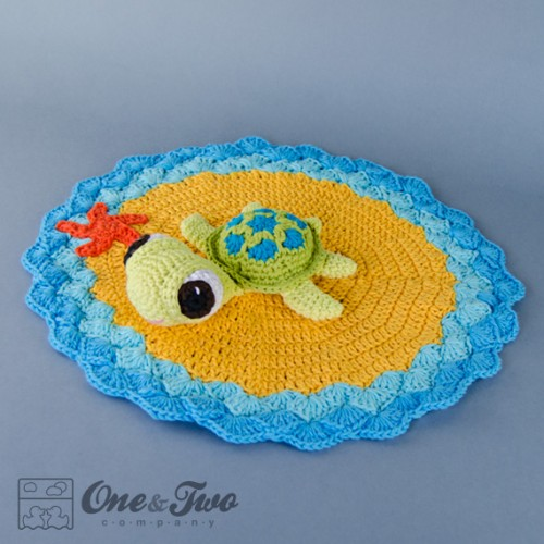 Tunisian Crochet Patterns Baby Free : Bob the Turtle Security Blanket Crochet Pattern