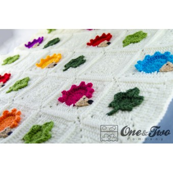 Colorful Hedgehog Blanket Crochet Pattern