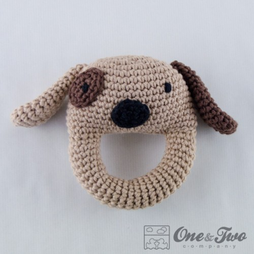 Diy Free Crochet Pattern For Baby Rattles : Dog Rattle Crochet Pattern
