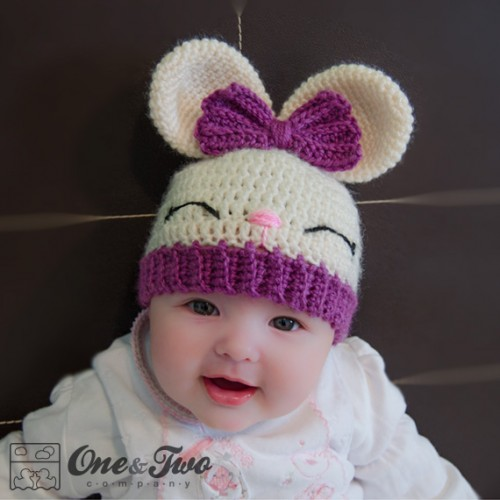 Crochet Pattern Bunny Hat : Olivia the Bunny Hat Crochet Pattern
