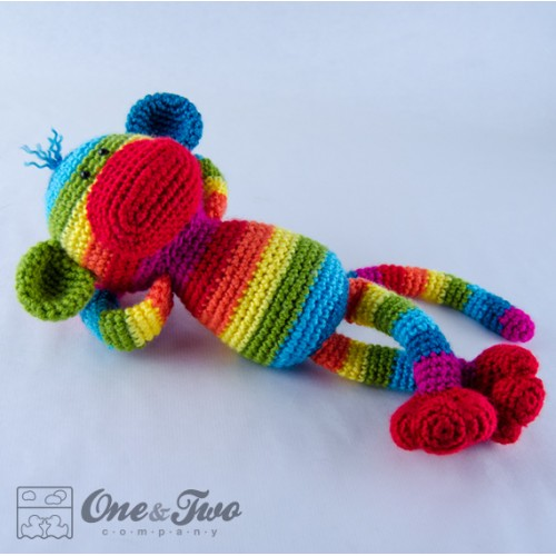 Rainbow Sock Monkey Lovey and Amigurumi Crochet Patterns Pack