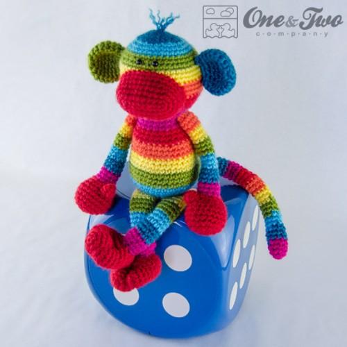 Free Pattern Amigurumi My Little Pony : Rainbow Sock Monkey Amigurumi Crochet Pattern