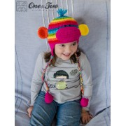 Rainbow Sock Monkey Hat Crochet Pattern