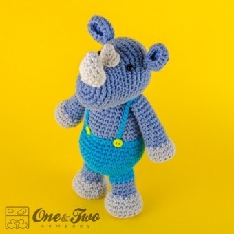 Max the Rhino Amigurumi Crochet Pattern