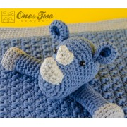 Max the Rhino Security Blanket Crochet Pattern