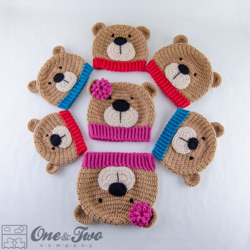Crochet Baby Teddy Bear Hat Pattern : Teddy Bear Hat Crochet Pattern