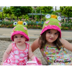 Amy the Frog Sun Hat Crochet Pattern