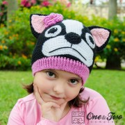 Boston Terrier / French Bulldog Hat Crochet Pattern