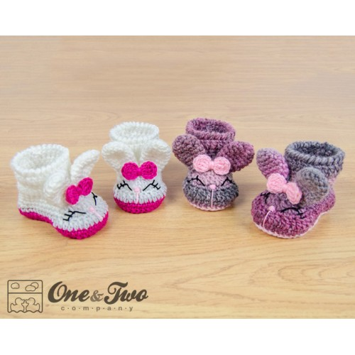 Crochet Bunny Baby Booties Pattern : Olivia the Bunny Booties - Baby Sizes - Crochet Pattern