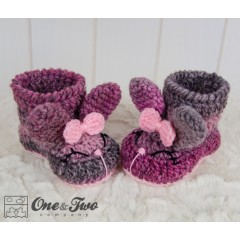 Olivia the Bunny Booties - Baby Sizes - Crochet Pattern