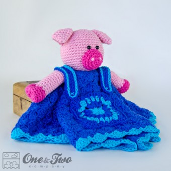 Eddie the Piggy Security Blanket Crochet Pattern