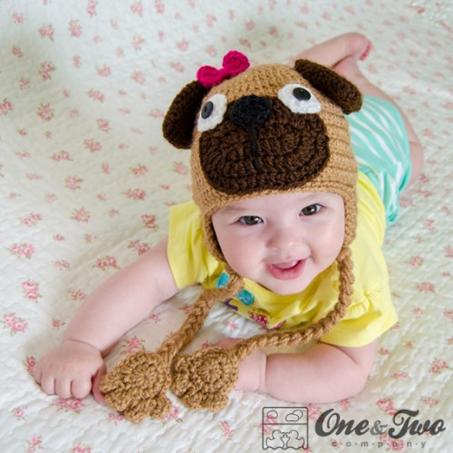 279692dd448 Puppy Pug Hat Crochet Pattern
