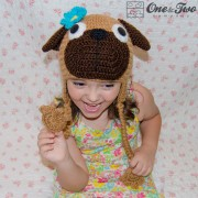 Puppy Pug Hat Crochet Pattern