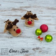 Reindeer Booties - Baby Sizes - Crochet Pattern