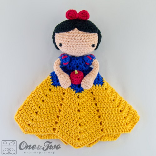 Crochet Pattern For Baby Security Blanket : Snow White Security Blanket Crochet Pattern