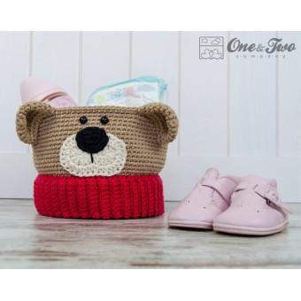 Teddy Bear Basket - Crochet Pattern