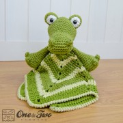 Crocodile Security Blanket Crochet Pattern