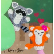 Flora the Fox and Ryo the Raccoon Crochet Pattern