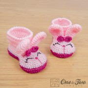 Olivia the Bunny Booties - Toddler Sizes - Crochet Pattern