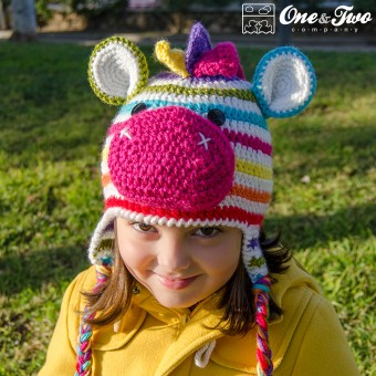 Rainbow Zebra Hat Crochet Pattern