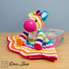 Rainbow Zebra Security Blanket Crochet Pattern