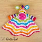 Rainbow Zebra Security Blanket Crochet Pattern