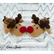 Reindeer Booties - Toddler Sizes - Crochet Pattern