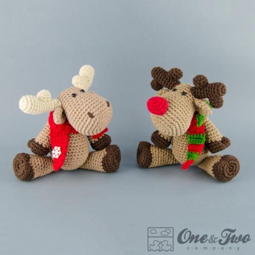 Amigurumi Moose Pattern Free : Reindeer and Moose Lovey and Amigurumi Crochet Patterns Pack