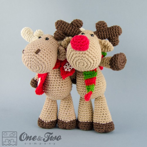 Free Crochet Deer Afghan Pattern : Reindeer and Moose Amigurumi Crochet Pattern