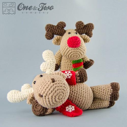 Amigurumi Moose Pattern Free : Reindeer and Moose Amigurumi Crochet Pattern