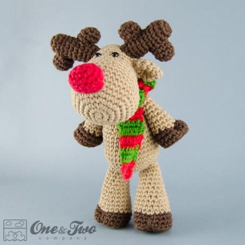 Free Crochet Reindeer Ornament Patterns : Reindeer and Moose Amigurumi Crochet Pattern