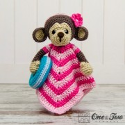 Lily the Baby Monkey Security Blanket Crochet Pattern