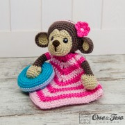 Lily the Baby Monkey Lovey and Amigurumi Crochet Patterns Pack