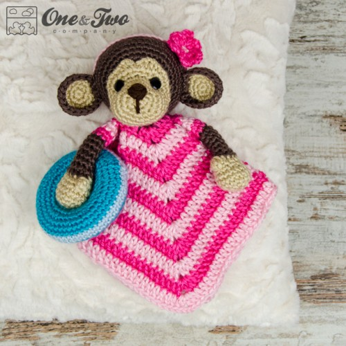 Crochet Pattern For Baby Security Blanket : Lily the Baby Monkey Security Blanket Crochet Pattern