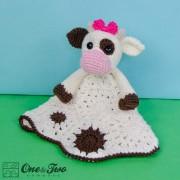 Doris the Cow Security Blanket Crochet Pattern
