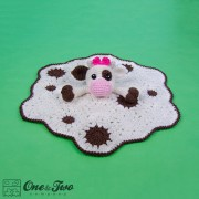 Doris the Cow Security Blanket Crochet Pattern