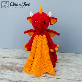 Felix the Baby Dragon Security Blanket Crochet Pattern