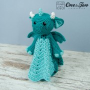 Felix the Baby Dragon Security Blanket Crochet Pattern