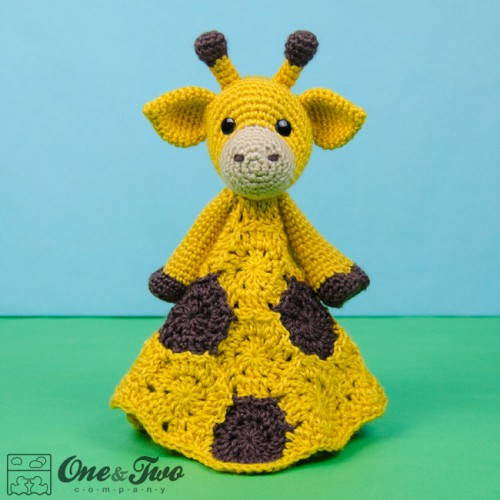Crochet Pattern Giraffe Blanket : Geri the Giraffe Security Blanket Crochet Pattern