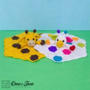 Geri the Giraffe Security Blanket Crochet Pattern