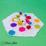 Geri the Giraffe Security Blanket Crochet Pattern